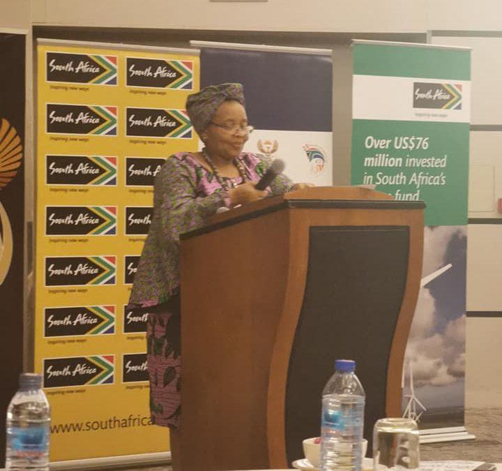 SA high commissioner Ms Lulama Xingwana